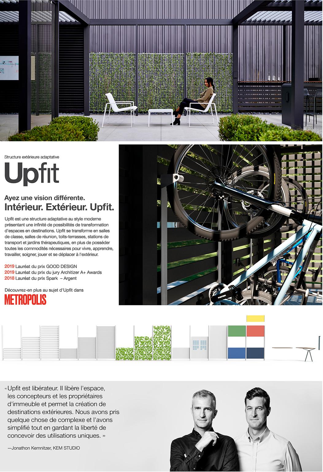 Upfit – structure extérieure adaptative