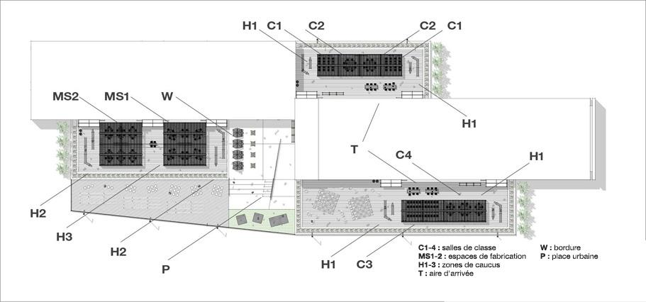 Plan du site d'école intermédiaire
