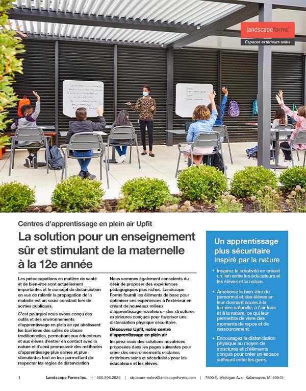 Solutions de designUpfit K-12 pour un enseignement sûr et stimulant de la maternelle à la 12eannée