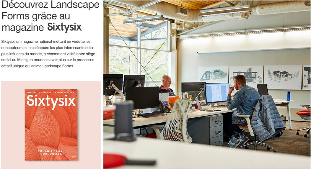 À l'intérieur de Landscape Forms avec SixtySix Magazine